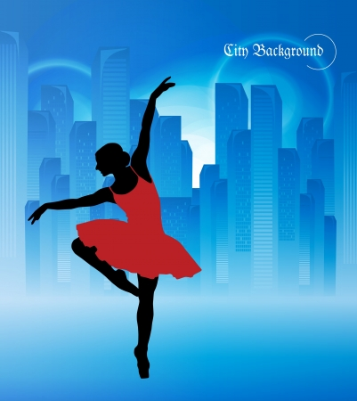 Ballet  Dancing illustration Vector