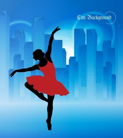 ballet slipper: Ilustraci�n Ballet