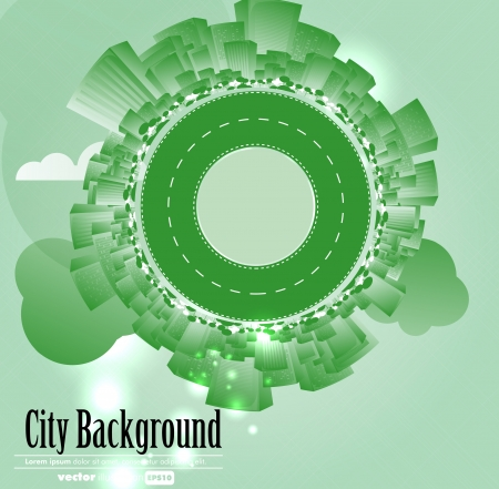 Creative urban landscape Vector