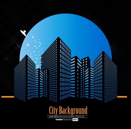 cartoon window: City Landscape