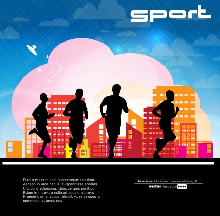 Marathon illustration Vector