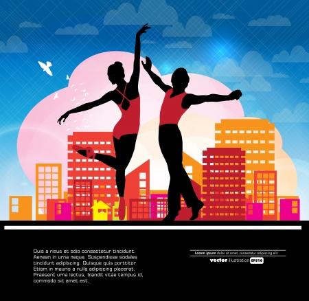lyrical dance: Ballet  Dancing illustration