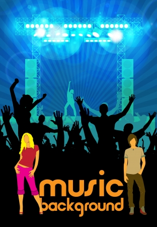 Music event background  illustration Stock Vector - 15859174