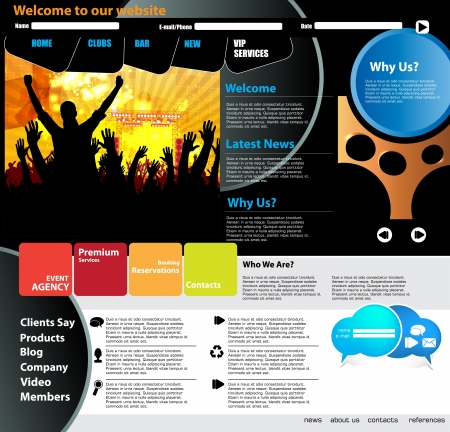 Web design template Stock Vector - 15851100