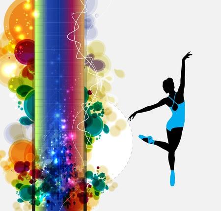 lyrical dance: illustration of ballet