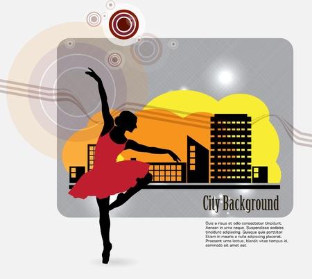 ballet dancing: Danza Ballet illustrazione Vettoriali
