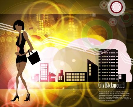 Shopping woman Stock Vector - 15948983