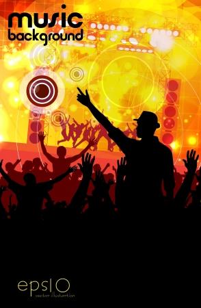 party background: Concert  illustration Illustration