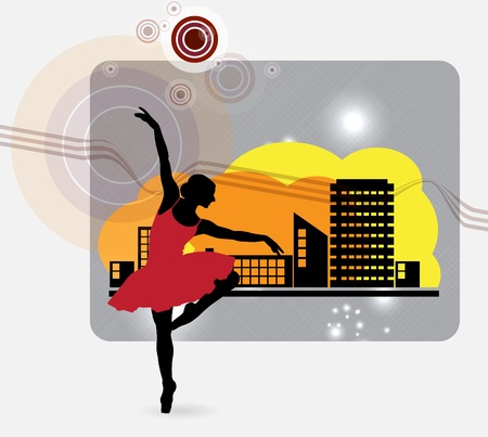 Ballet  Dancing illustration illustration