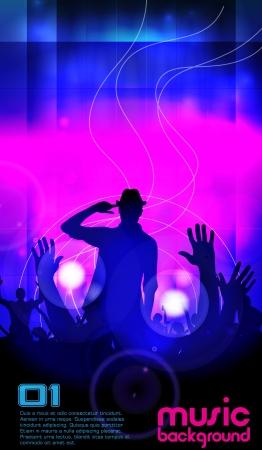 clubing: Music illustration