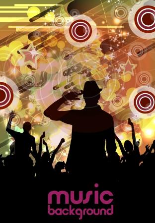 clubing: Concert  illustration Illustration