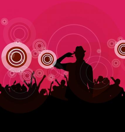 Music event illustration  Dancing people  illustration