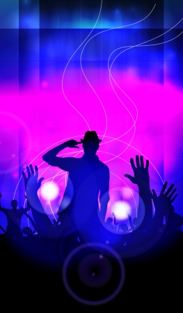 Music event illustration  Dancing people  illustration