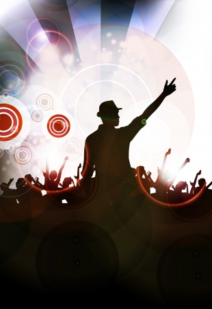 Disco music illustration illustration