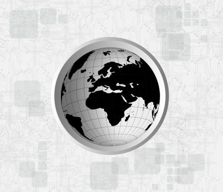 World globe  Abstract illustration  illustration