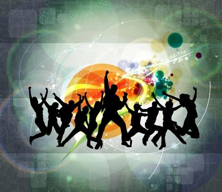 Music event background illustration