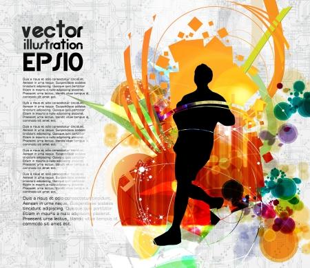 maratón: Sport ilustrace Ilustrace