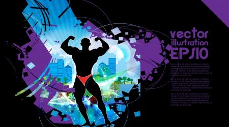 deltoids: Bodybuilding. illustration
