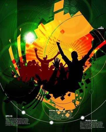 Dancing people Stock Vector - 16117441