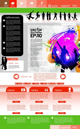 Website template with music even subject  Stock Vector - 16135559