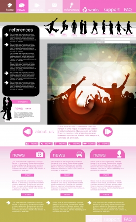 Website template with music even subject  Stock Vector - 16135512