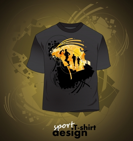 shirt design: T-shirt design of sports Illustration