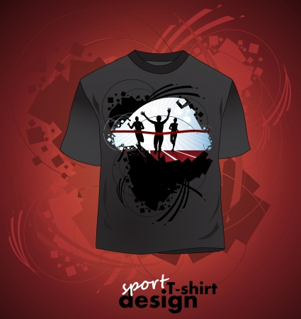 T-shirt design of sports Vector