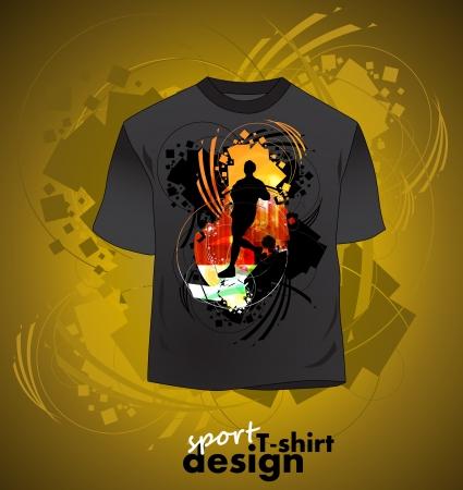 T-shirt design of sports Stock Vector - 16140208