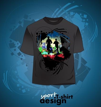 T-shirt design of sports Stock Vector - 16140204