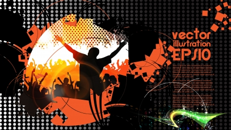 Dancing people  Vector illustration Stock Vector - 16144373