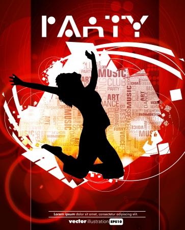 Dancing people  Vector illustration Stock Vector - 16144367
