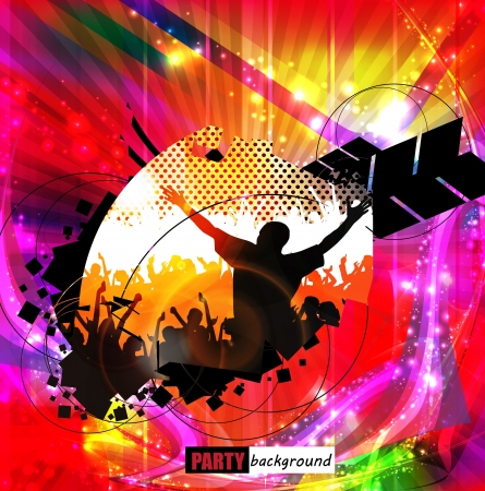 Disco music illustration Vector