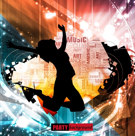 disk jockey: Disco music illustration