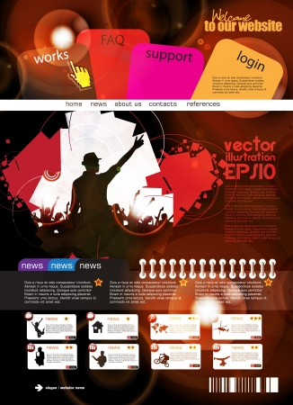 Web design template Stock Vector - 16140500