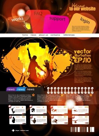 Web design template Stock Vector - 16140558