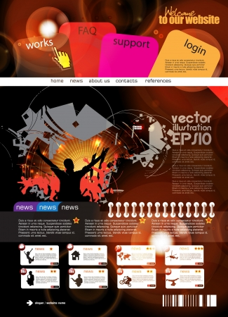 Web design template Stock Vector - 16140507