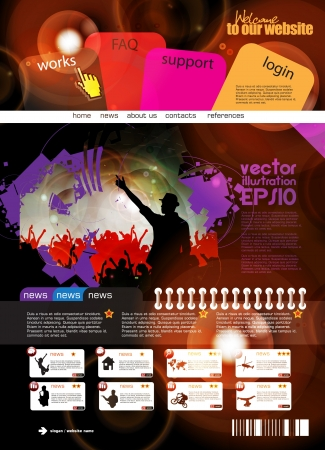 Web design template Stock Vector - 16140551