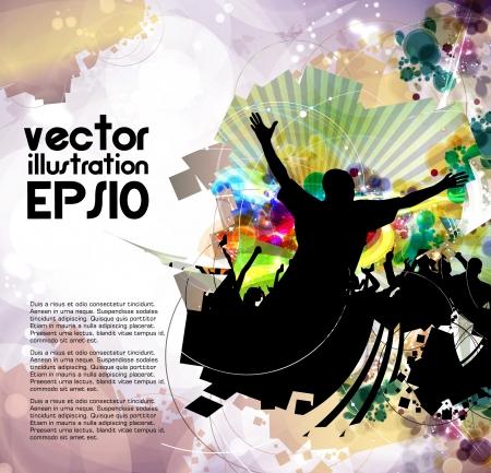Dancing people Vector