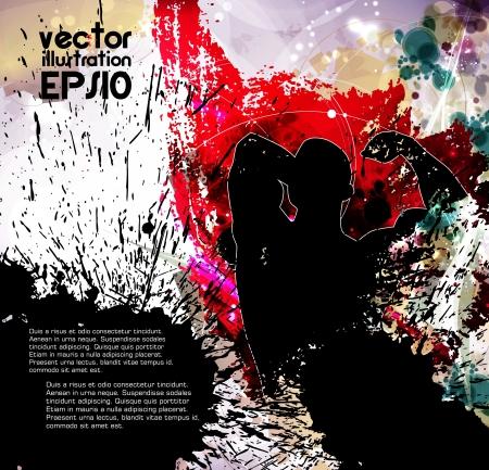 Bodybuilding  Vector illustration Stock Vector - 16509322