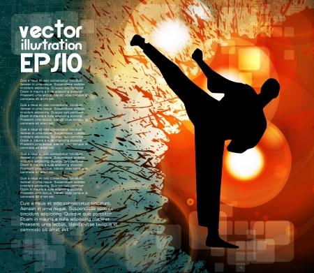 karate fighter: Karate Stock Photo