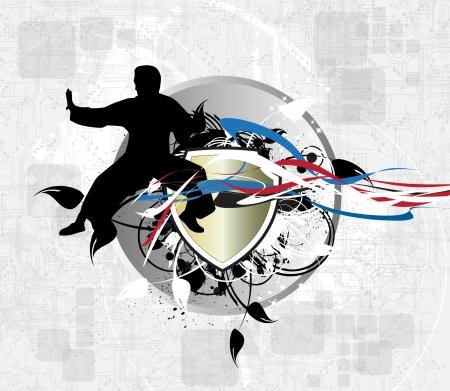 Karate illustration illustration