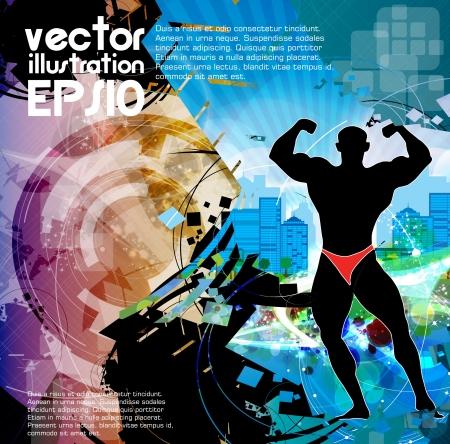Bodybuilding Stock Vector - 16509328