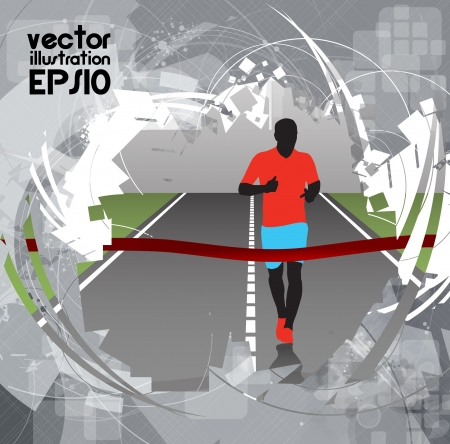 Editable vector illustration of a running man Vector