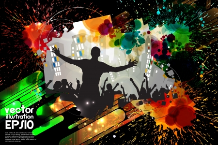 clubing: Vector party background