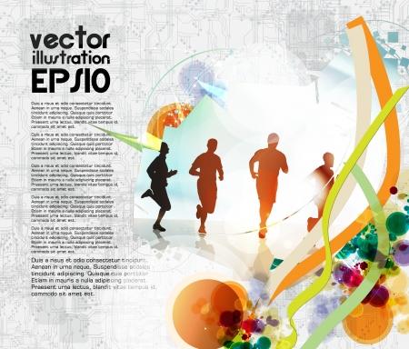 healthy lifestyle: Sport Illustration Illustration