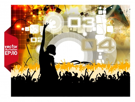 Music event background   illustration  Stock Vector - 16412478