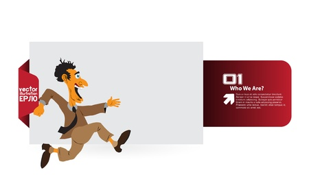 Businessman running Stock Vector - 16379718