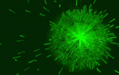Green explosion background  Stock Photo - 16412567