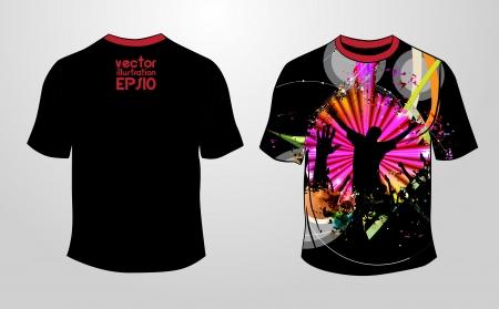raglan: T-shirt design. Vector  Illustration