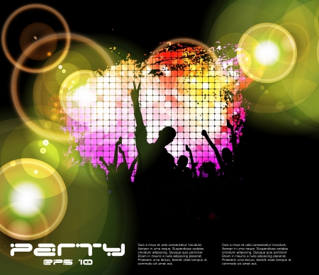 discoteque: Discoteque music background Illustration